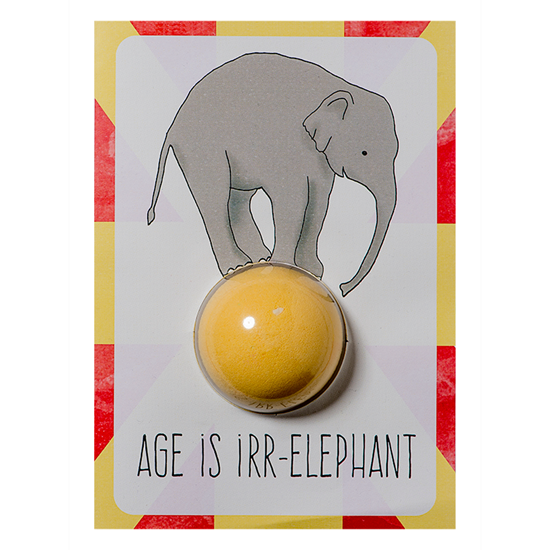 5037028264294 Bomb Cosmetics Age is Irr-elephant Bath Blaster Card