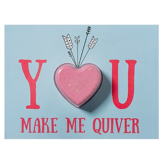 5037028264560 Bomb Cosmetics You Make Me Quiver Bath Blaster Card