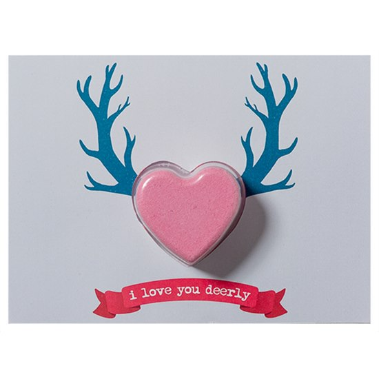 5037028264911 Bomb Cosmetics Love You Deerly Bath Blaster Card