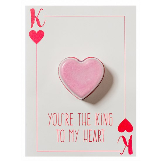 5037028264928 Bomb Cosmetics King to My Heart Bath Blaster Card