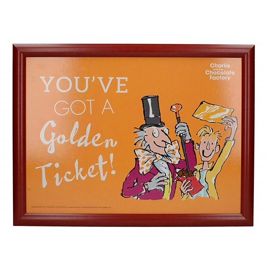 5050993309364 Charlie and Chocolate Factory Lap Tray