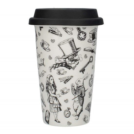 5050993309371  Alice in Wonderland Double Walled Travel Mug