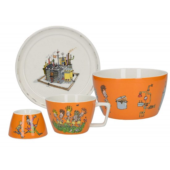 5050993321106 Charlie and The Chocolate Factory 4Pc Stacking Breakfast Set