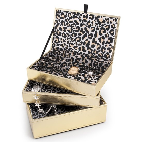 5051494025029 Leopard Print Stacking Jewellery Box