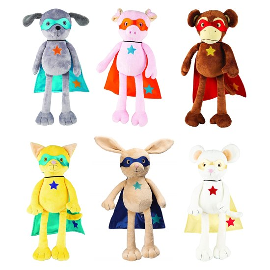 Suki Superhero Mighty Monkey Plush Toy