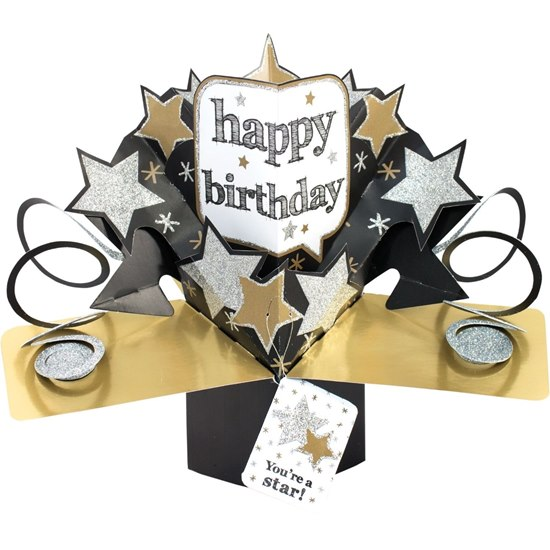 5053154194144 Birthday Stars Pop Up Card