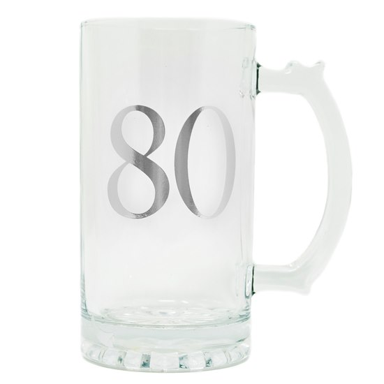5053944608783 Celebrate In Style - 80 Birthday Beer Tankard