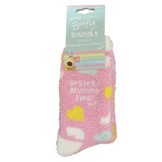 5053944702115 Boofle Bestest Mummy Ever Fluffy Socks