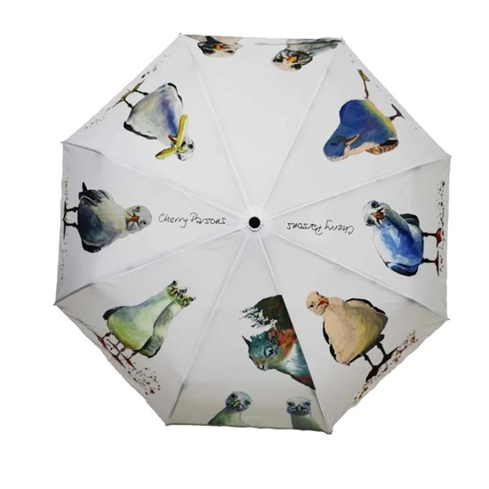 5055722206563 Cherry Parsons Folding Umbrella - Eight Seagulls