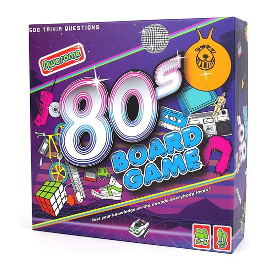 5056004324043 Awesome 80's Trivia Board Game