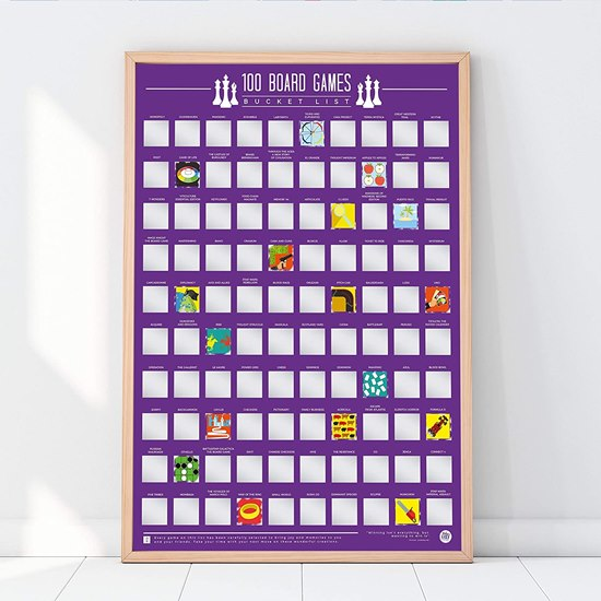 5056004325507 Board Games Scratch Off Poster