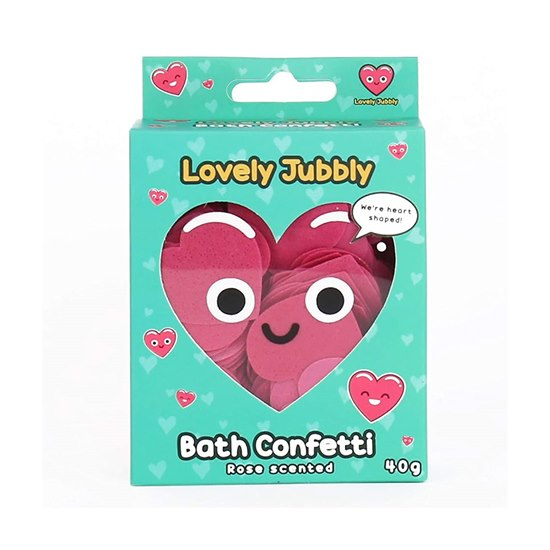 5056004329048 Lovely Jubbly Heart Bath Confetti