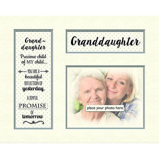 5060000122183 Granddaughter Memory Photo Mount