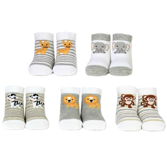 5060152024670 Cucamelon Baby Safari Socks 0-12 months