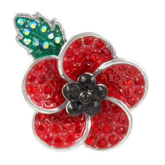 5060363721856  Five Petals Poppy Brooch