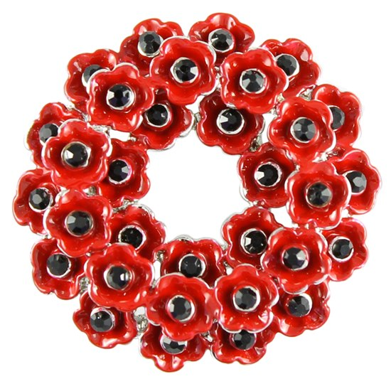 5060363722037 Large Poppy Wreath Brooch