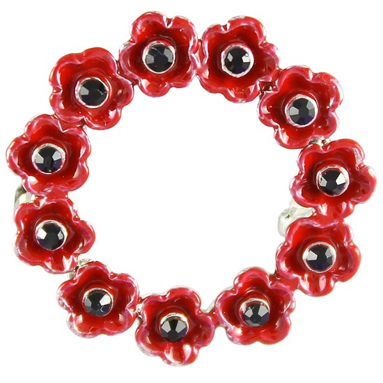 5060363722044  Small Poppy Wreath Brooch
