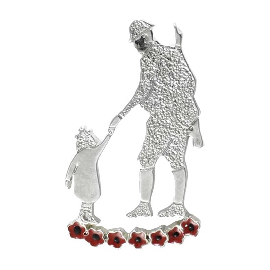 5060363728701 Father & Child Poppy Brooch