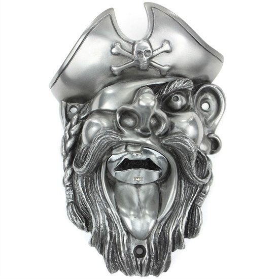BEERBUDSI Beer Buddies Pirate Silver Bottle Opener