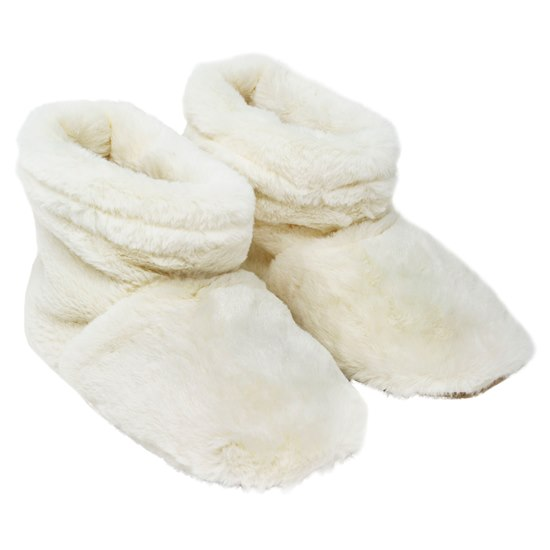 5060398129146 Faux Fur Heatable Boots Cream