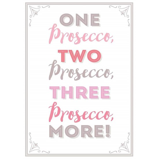 5060440431029  One Prosecco  Tea Towel