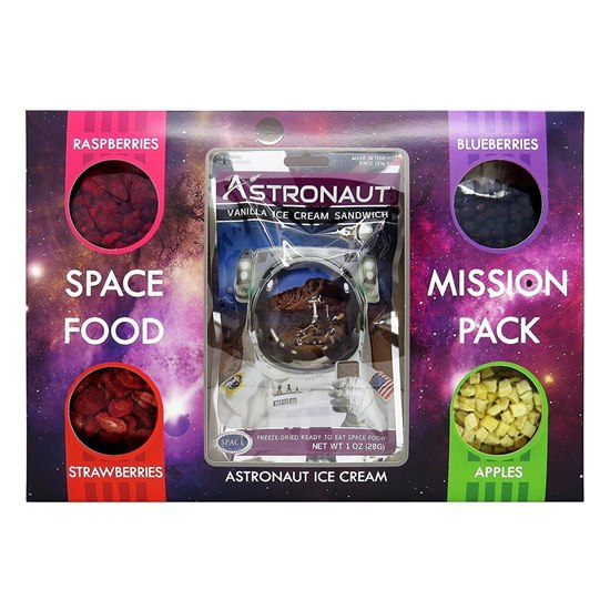 5060470571085 Astronaut Space Food Mission Pack  - Fruit Selection With Vanilla Ice Cream Sandwich