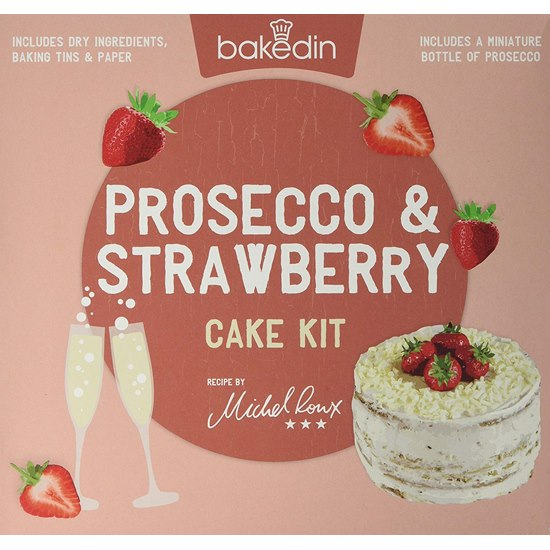 5060502500168 Bakedin Strawberry and Prosecco Cake Kit