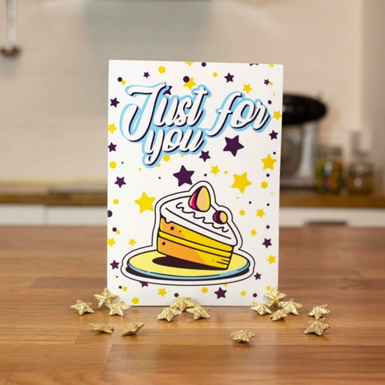5060502500427 Bakedin Cake in A Card - Just For You