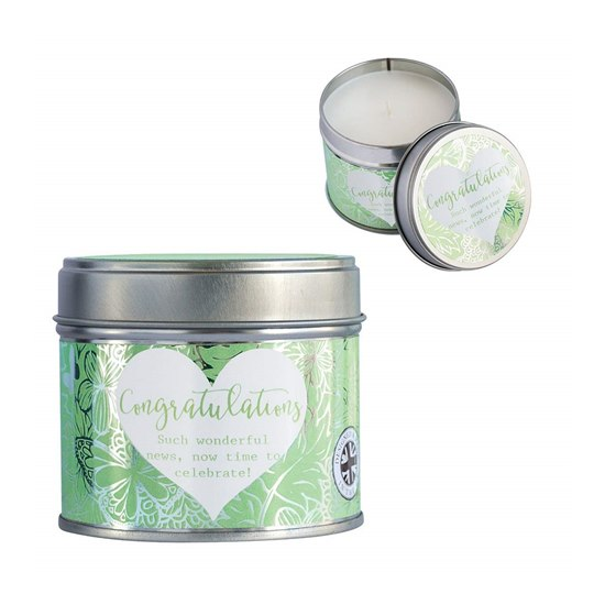5060578091133 Said With Sentiment Candle In A Tin Congratulations