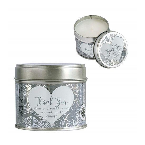 Said With Sentiment Candle In A Tin Thank you
