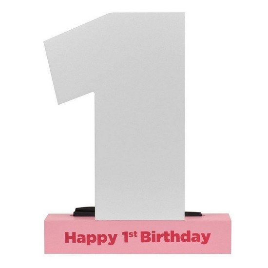 1st Birthday Plaque 1st Birthday Signature Plaque Pink