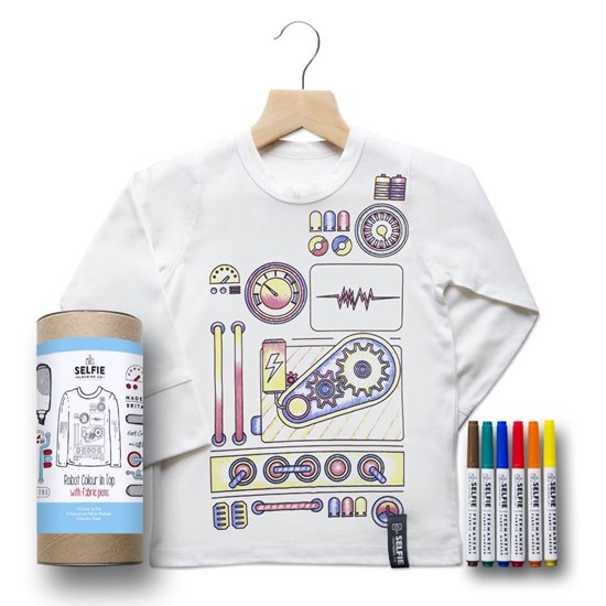 SELFIEROBOTTOP Selfie Clothing Robot Colour In Top 6-8Yrs