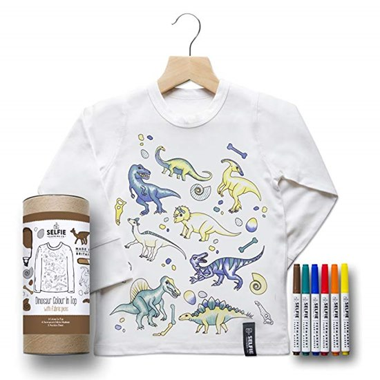 SELFIEDINOTOP Selfie Clothing Dinosaur Colour In Top 4-6Yrs