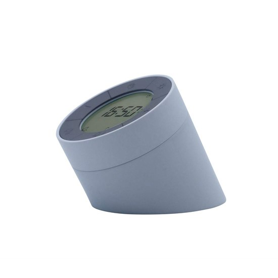 G001 Gingko Edge Light Alarm Clock - Grey
