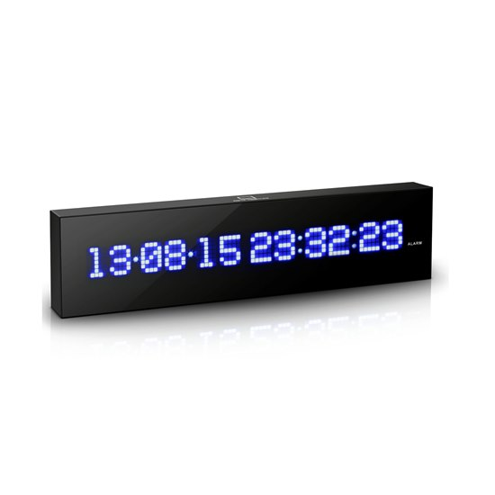 700900316910 Gingko Black LED Calendar Wall Clock GK07B10