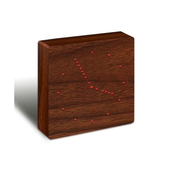 GK02 Gingko Analogue Click Clock Walnut