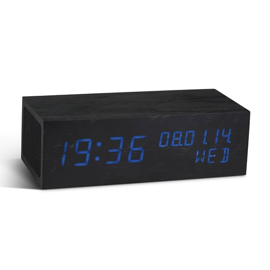 7009537860500 Gingko Bluetooth Music Click Clock Black