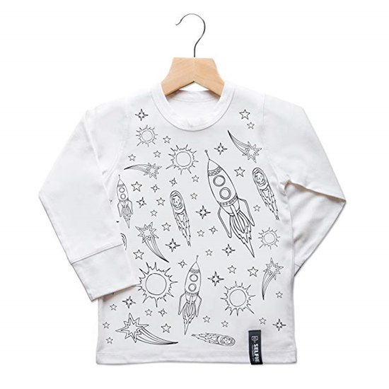 SELFIESPACETOP Selfie Clothing Space Adventure Colour In Top 6-8Yrs