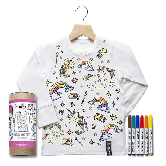 SELFIEUNICORNTOP Selfie Clothing Unicorn Colour In Top 4-6Yrs