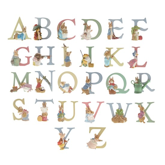 ALPHLETTER Beatrix Potter Alphabet Collection - Letter A