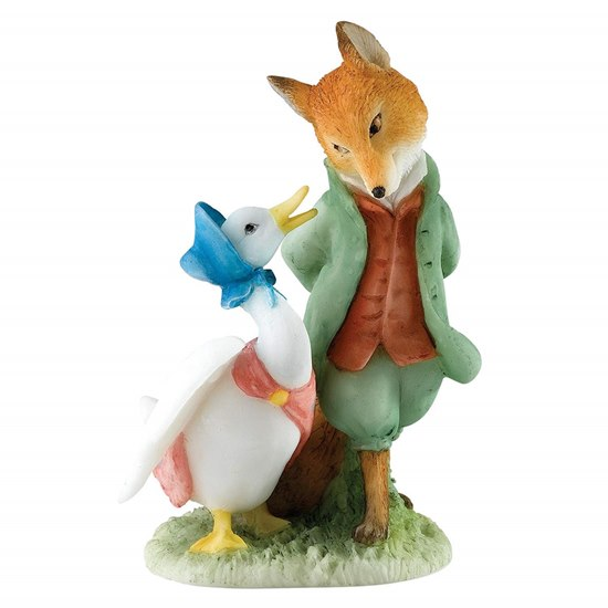 720322276760 Beatrix Potter Jemima & The Foxy Whiskered Gentleman Mini Figurine