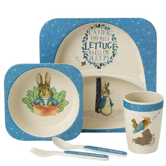 720322277545 Beatrix Potter Peter Rabbit Bamboo Dinner Set
