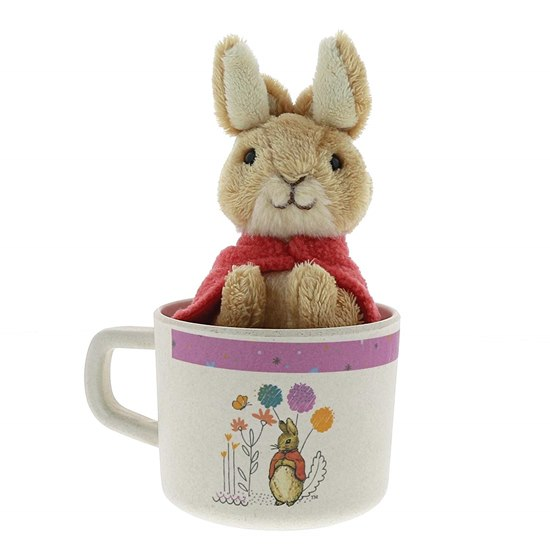 720322288299 Beatrix Potter Peter Rabbit Flopsy Bamboo Mug & Soft Toy Gift Set