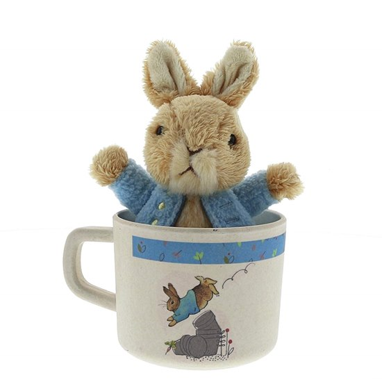 720322288374 Beatrix Potter Peter Rabbit Bamboo Mug & Soft Toy Gift Set