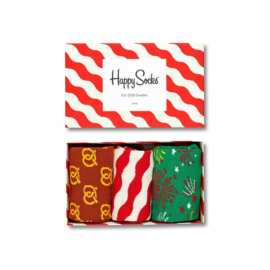 XMAS08-4001 Happy Socks Holiday Gift Box