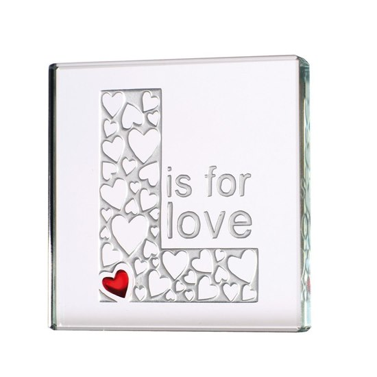 819785017482 L is For Love Miniature Glass Token