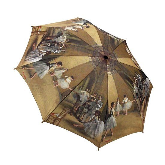 877152000253 Galleria Ballet Class By Degas Folding Umbrella