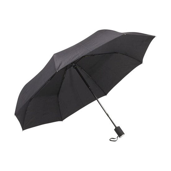 877152000475 Galleria Black Folding Umbrella