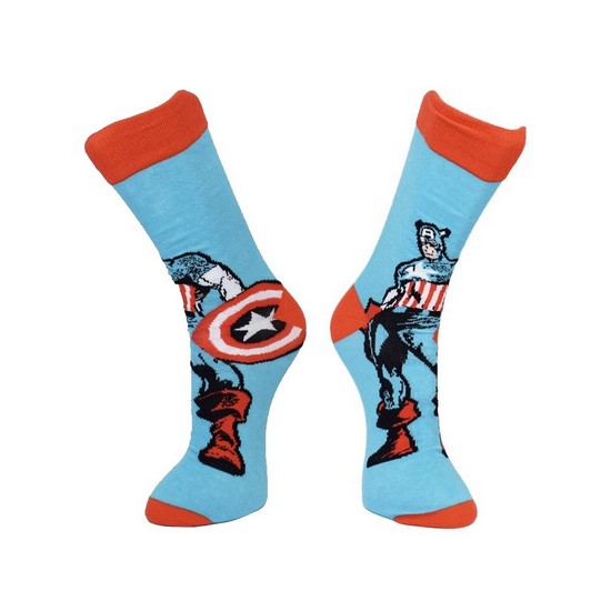 CR115903MAR Marvel Captain America and Shield Socks