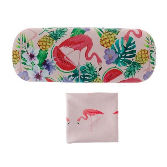 5060398125575 Glasses Case and Cloth Flamingo